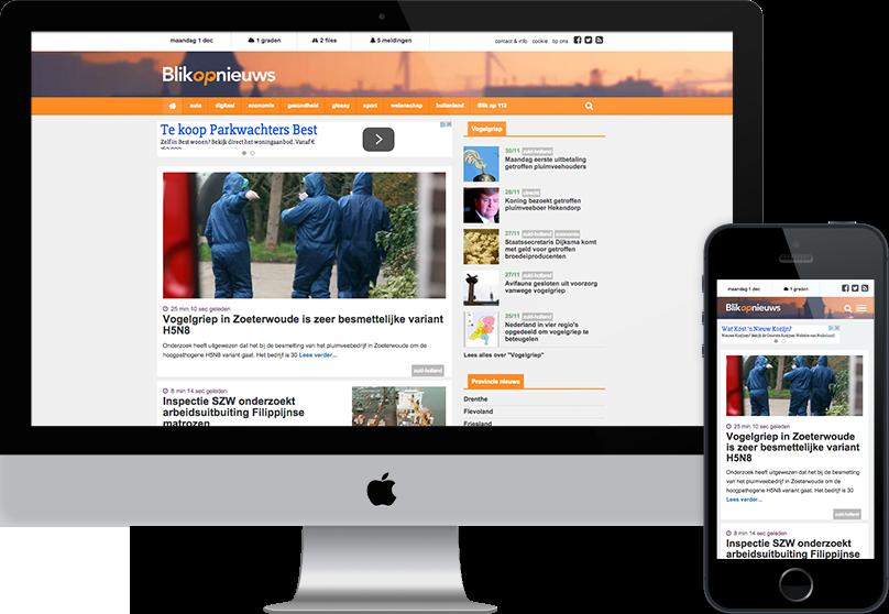 Blikopnieuws responsive website door compubase