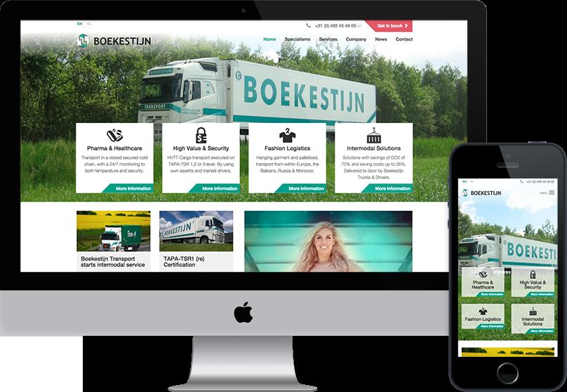 Compubase portfolio scherm Boekestijn Transport desktop en mobiel