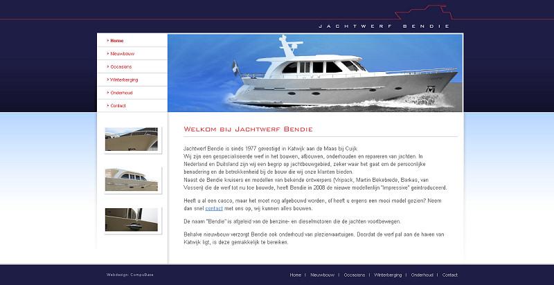 Detail van de website Bendie