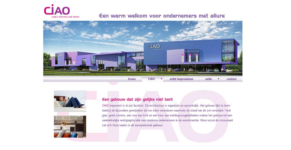 Detail van de website CIAO Cuijk