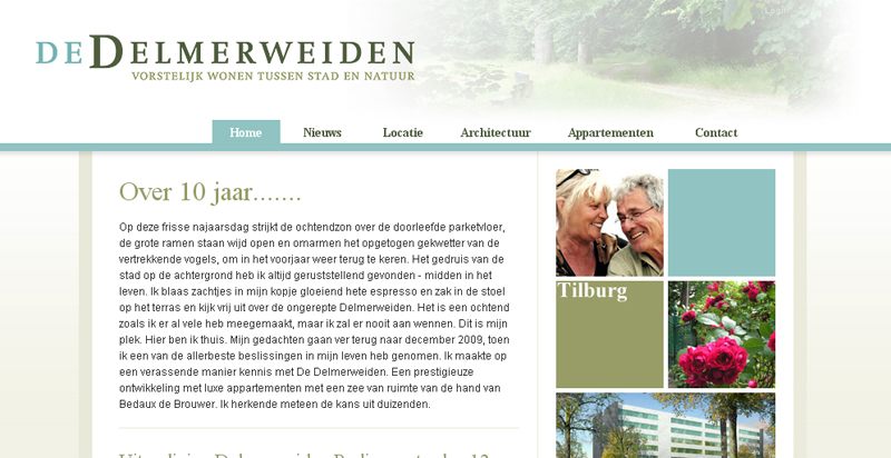 Detail van de website De Delmerweiden