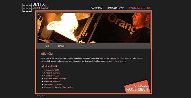 Detail van de website Den Tol