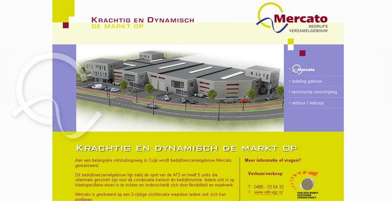 Detail van de website Mercato Cuijk