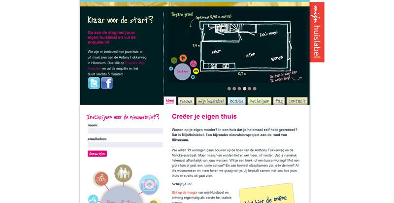 Detail van de Drupal website Mijn Huislabel