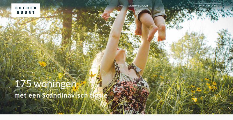 Screenshot bolderbuurt.nl door Compubase Drupal website