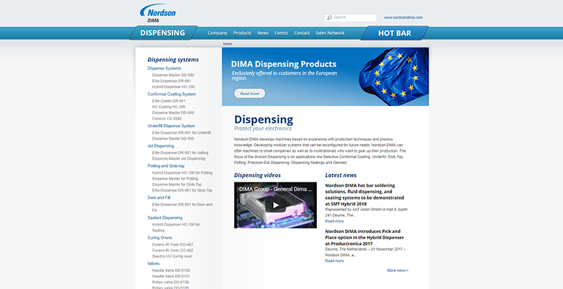 Screenshot Drupal website Dima Group Compubase