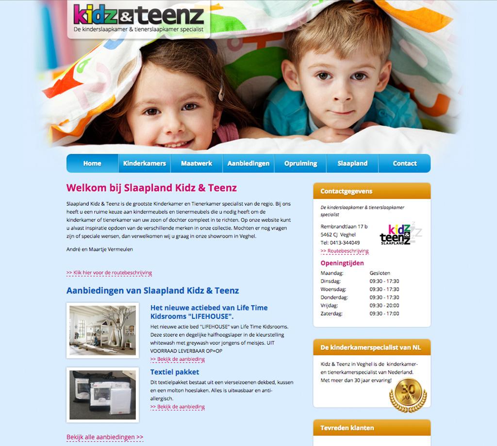 Drupal website slaapland.nl gebouwd door Compubase