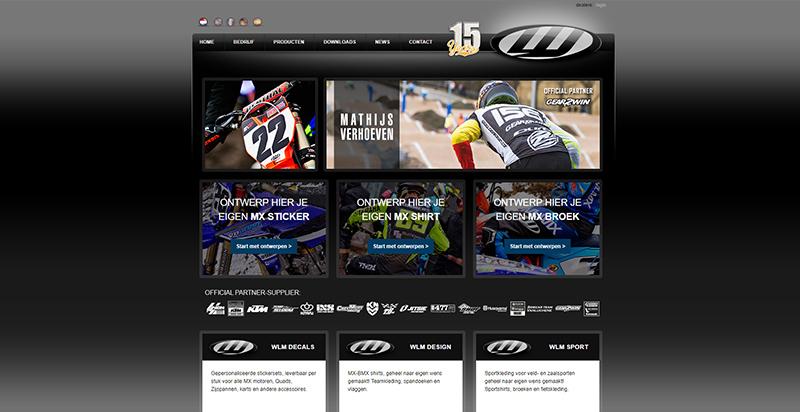 Detail van de website WLM Design Mill