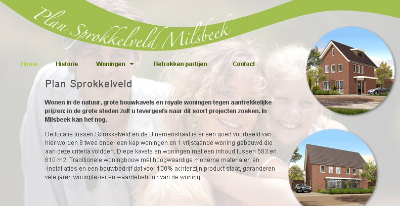 Detail van de website van Project Sprokkelveld