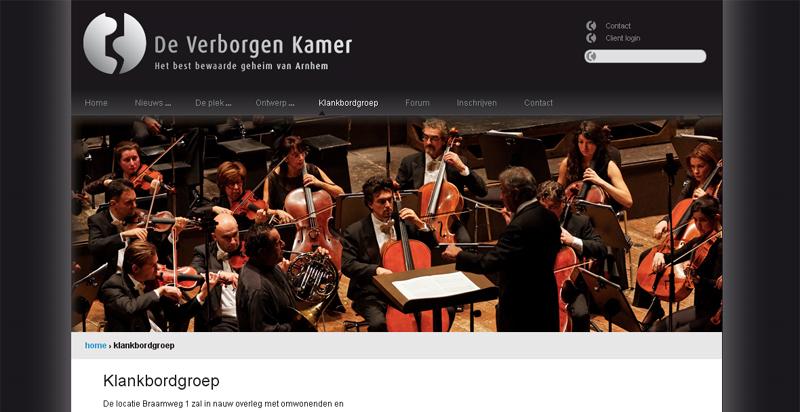 Detail van de website De Verborgen Kamer