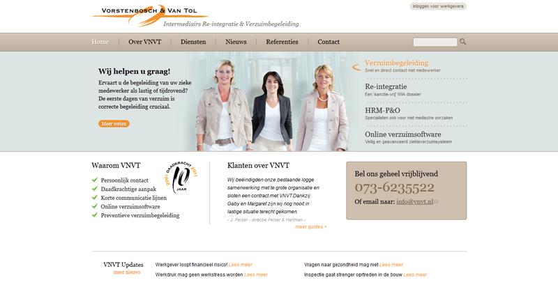 Bekijk Drupal website Vorstenbosch & Van Tol