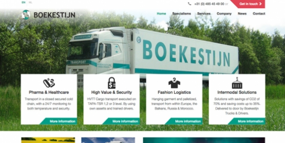 Boekestijn Transport Mill Webdesign