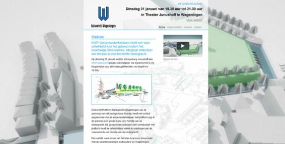 Detail van de Drupal website van Bolwerck Wageningen
