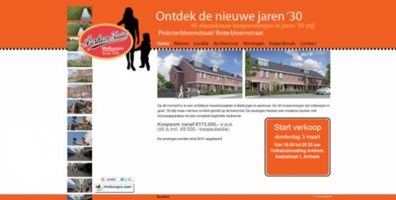 Detail van de Drupal website van De nieuwe jaren 30 Arnhem