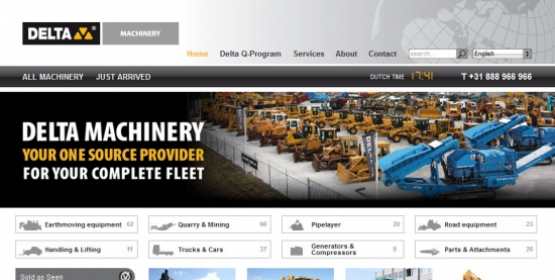 Detail van de Drupal website Delta Machinery