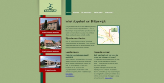 Detail van de Drupal website Eckmanshof
