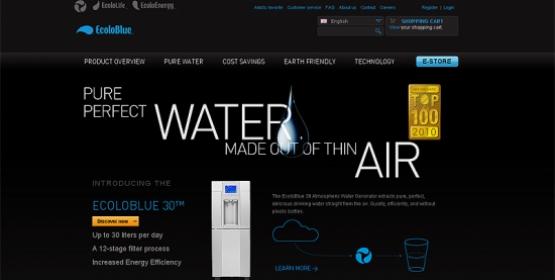 Detail van de website EcoloGroup