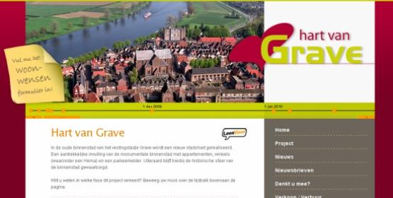 Detail van de website Hart van Grave