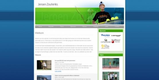 Detail van de website Jeroen Zouteriks
