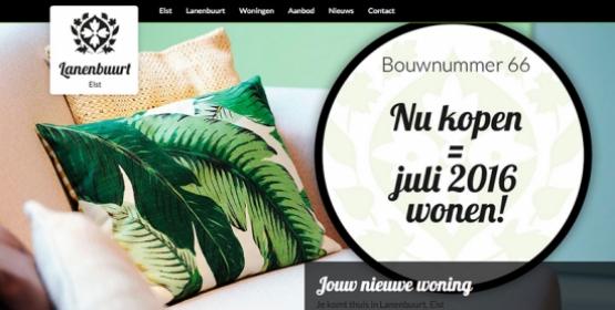 Lanenbuurt een uwporjectonline website in Drupal