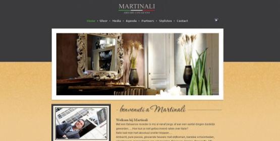Detail van de website Martinali