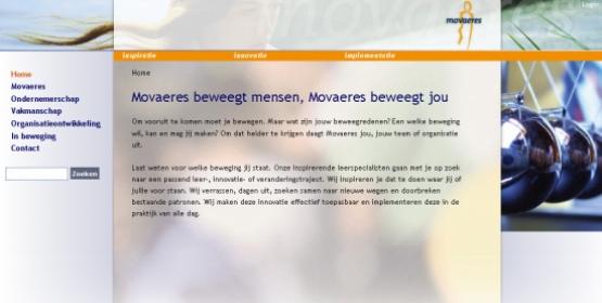 Detail van de website Movaeres