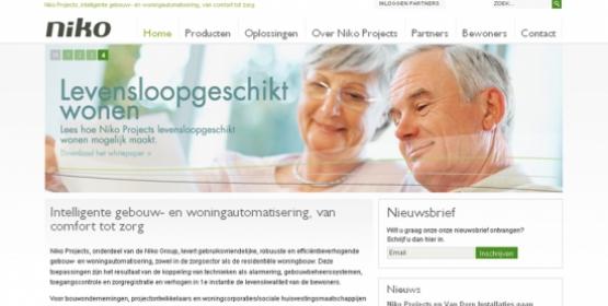 Detail van de website van Niko Projects