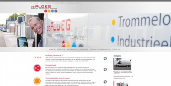 Detail van de Drupal website van De Ploeg Techniek