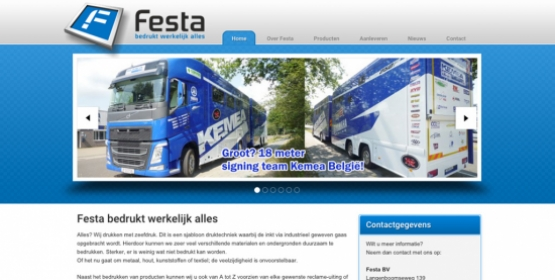 Screenshot Festa.nl multisite Drupal door Compubase