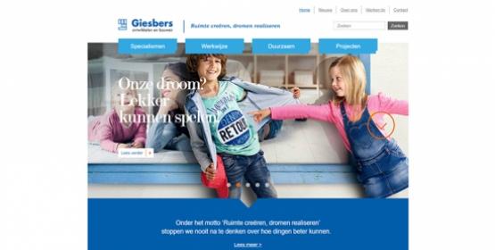 Detail van de website Giesbers Wijchen