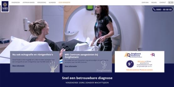 Detail van de website MRI Centrum