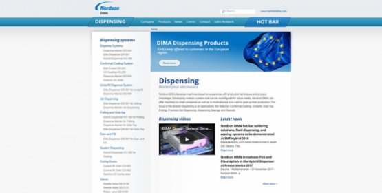 Screenshot Drupal website Dima Group Compubase