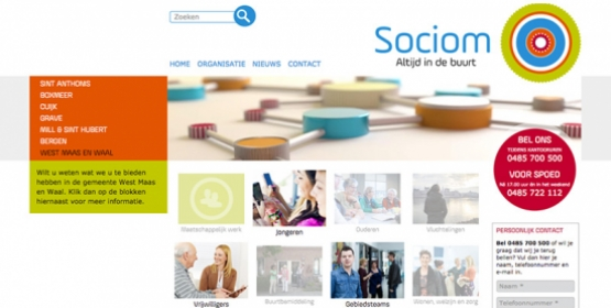 Sociom Drupal website in opdracht van Maek