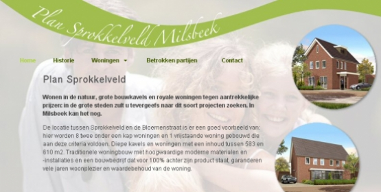 Detail van de website van Project Sprokkelveld