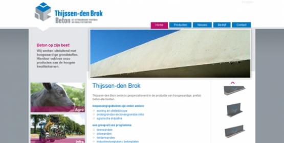 Detail van de website Thijssen-den Brok Beton
